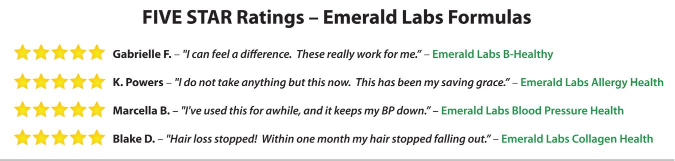 Emerald Labs Five Star Ratings